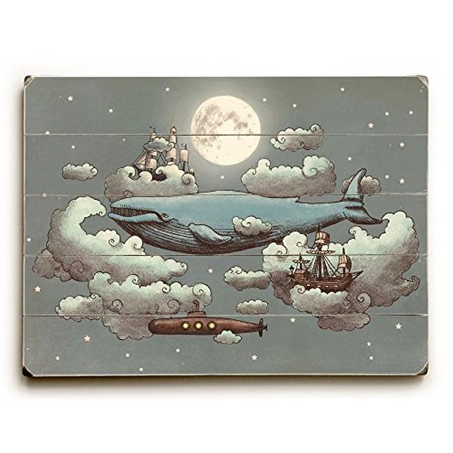One Bella Casa 0402-4893-20 18 x 24 in. Ocean Meets Sky Planked Wood Wall Decor by Terry Fan - image 1 de 1