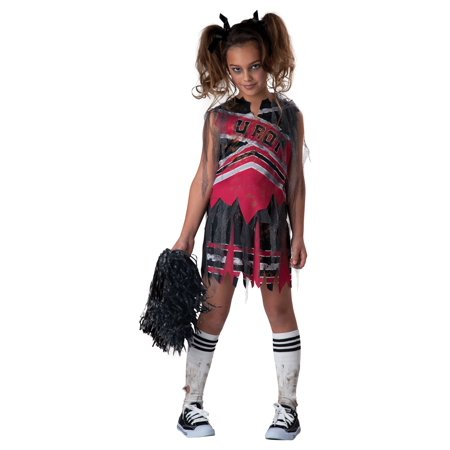 Zombie Cheerleader Makeup (Spiritless Cheerleader Child Costume -)
