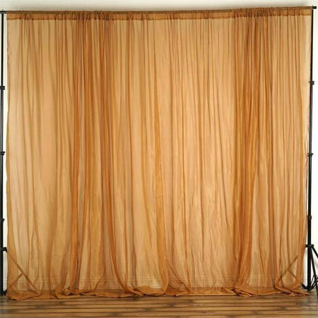 Balsacircle 10 Feet X 10 Feet Sheer Voile Backdrop Drapes Curtains