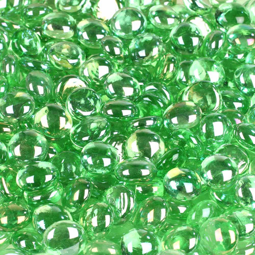 Wholesalers USA 5 lbs of Glass Gems in Metallic Green