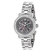 Diamond Oversized Watches For Women: Montana Black MOP 3ct
