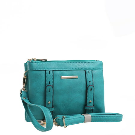 Cara Double Compartment - Blue Jeweled Handbag