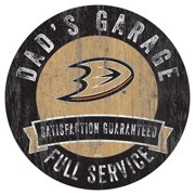 "Anaheim Ducks 12"" Dad's Garage Wood Sign"