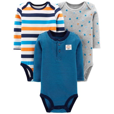 Child Of Mine By Carter's Long Sleeve Bodysuits, 3-pack (Baby Boys) ()