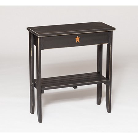 Furniture Barn USA™ Primitive Pine Long End Table with - Pine Painted Furniture