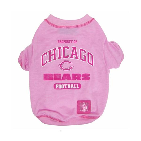 Chicago Bears Pink Dog T-Shirt - X-Small