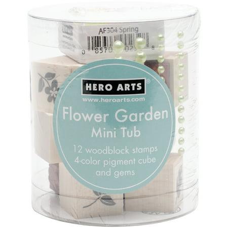 Hero Arts Mounted Rubber Stamp, Mini Tub Set 3.25