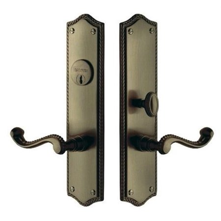- Baldwin  6939.ENTR  Keyed Entry  Bristol  Mortise Lock  Single Cylinder  ;Satin Brass and Black