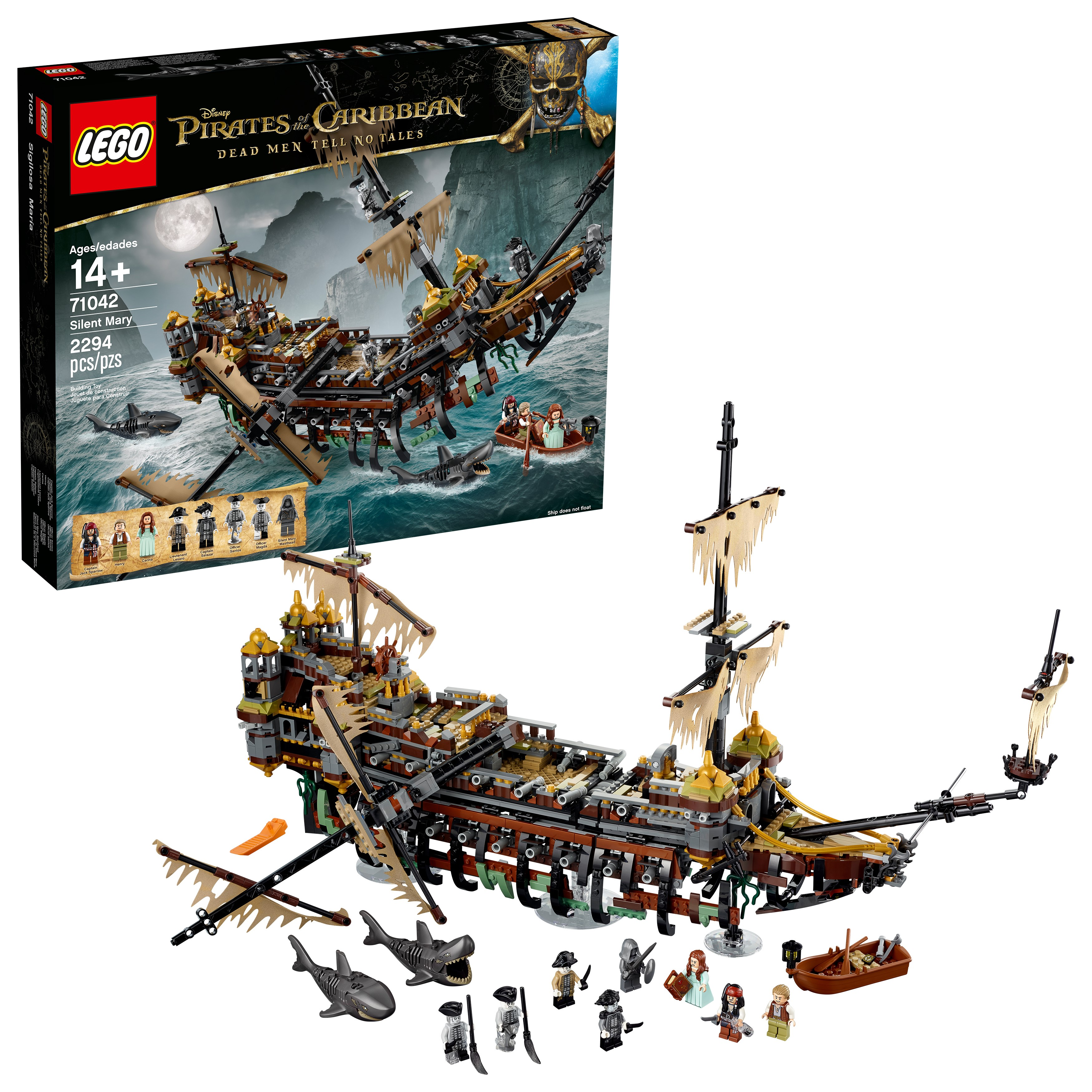Lego 6174890 Pirates of the Caribbean Silent Mary 71042 Building Kit Ship by LEGO System Inc