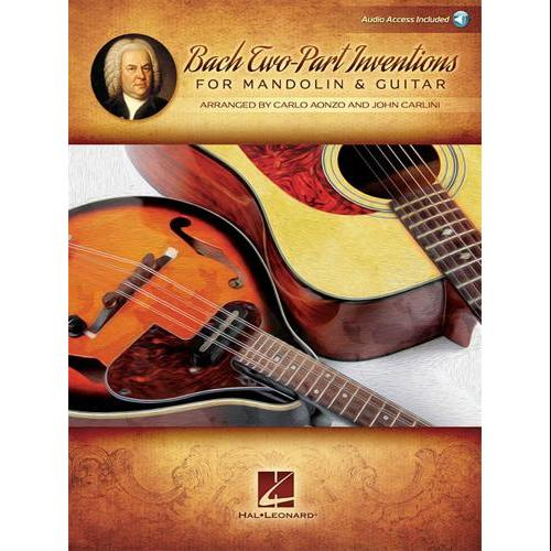 Hal Leonard Bach Two-Part Inventions for Mandolin & Guitar-Audio Online by