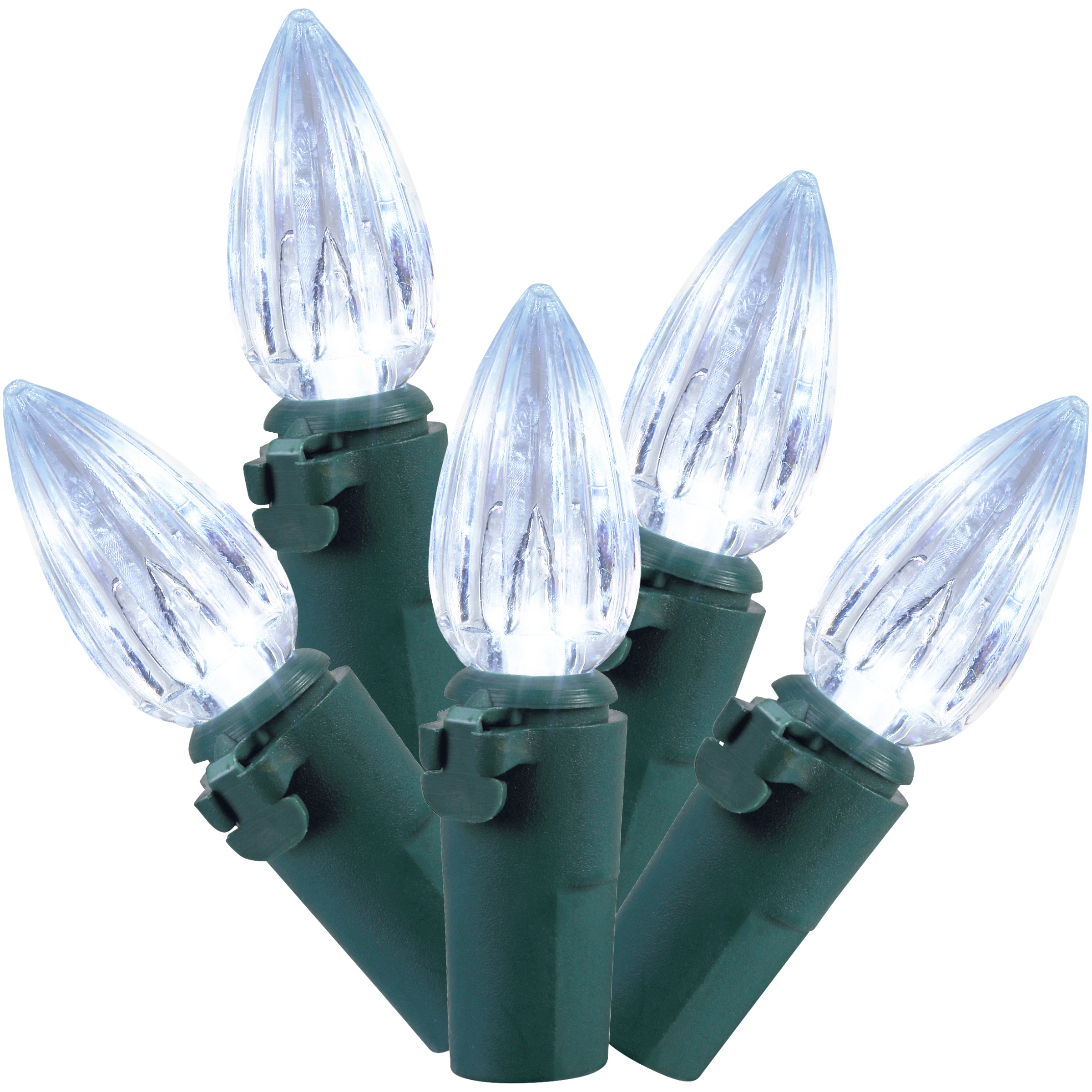 Holiday Time Indoor & Outdoor LED Cool White C3 Lights, 50.5;, 225 Count