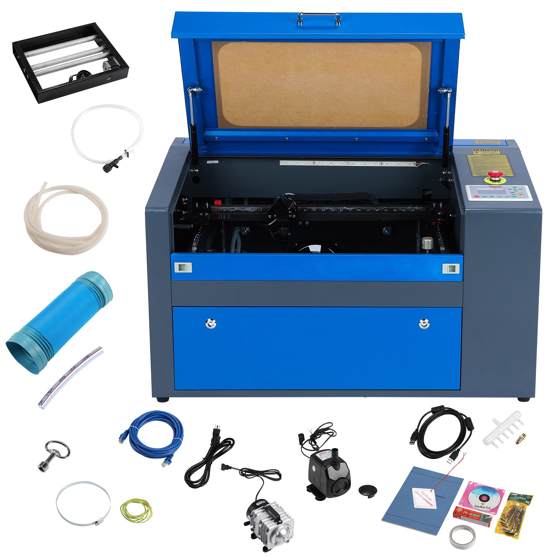 50w CO2 USB Laser Engraving Cutting Machine Engraver Cutter 500mm x 300mm