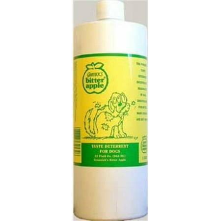Dog Chew Deterrent, 32-Ounce, Bitter taste to discourage dogs and puppies from licking, gnawing and chewing on surfaces where applied By Grannicks Bitter (Best Puppy Chewing Deterrent)