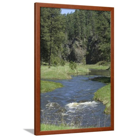 French Creek, Where Gold Was Discovered in the Black Hills, South Dakota Framed Print Wall