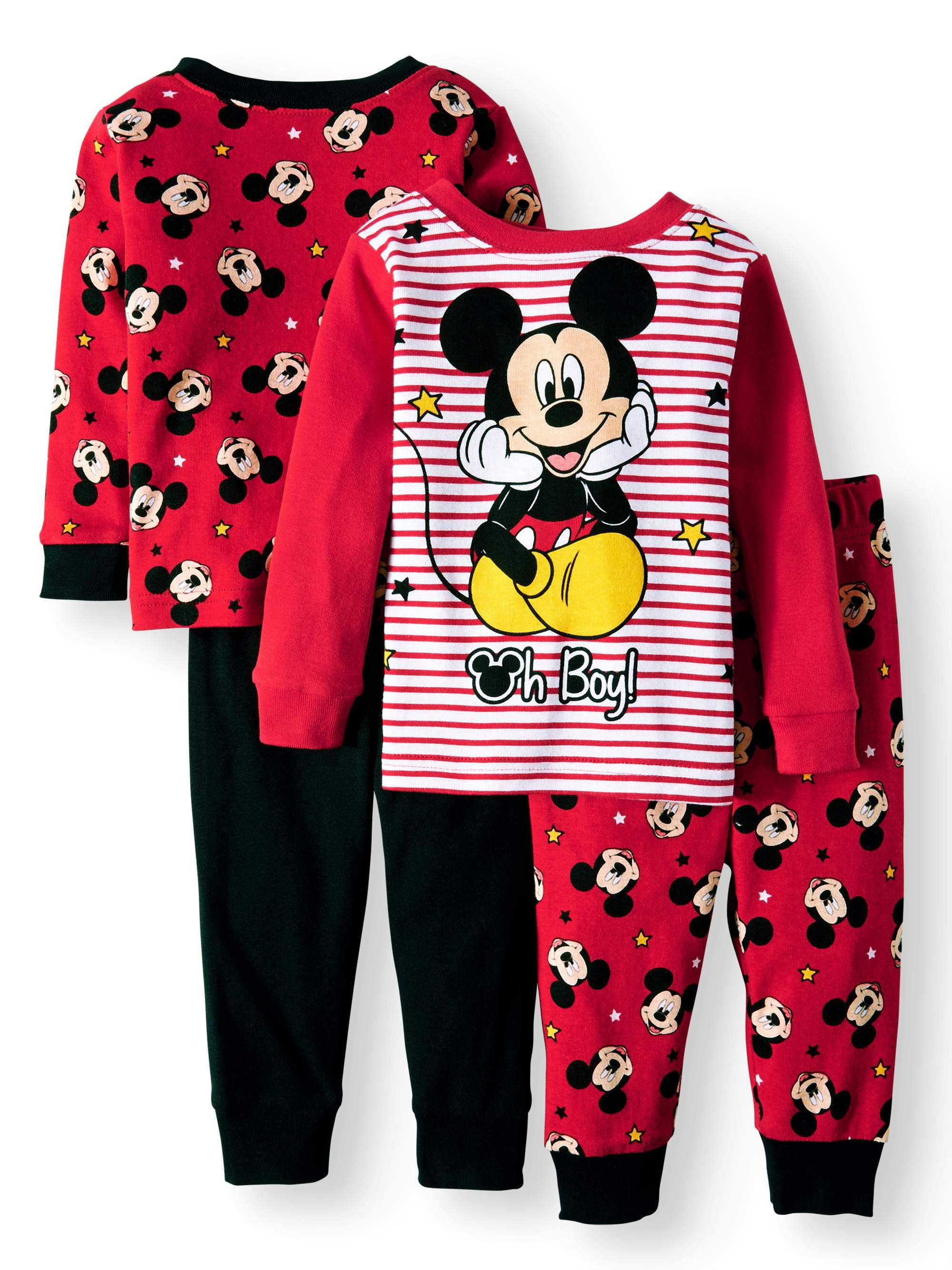 Mickey Mouse Cotton Tight Fit Pajamas, 4-piece Set (Baby Boys)