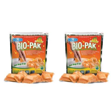 BIOTROPBG Bio-Pak Holding Tank Toilet Treatment Drop In Deodorizer (Quantity 2), Unbeatable Odor Prevention By Walex