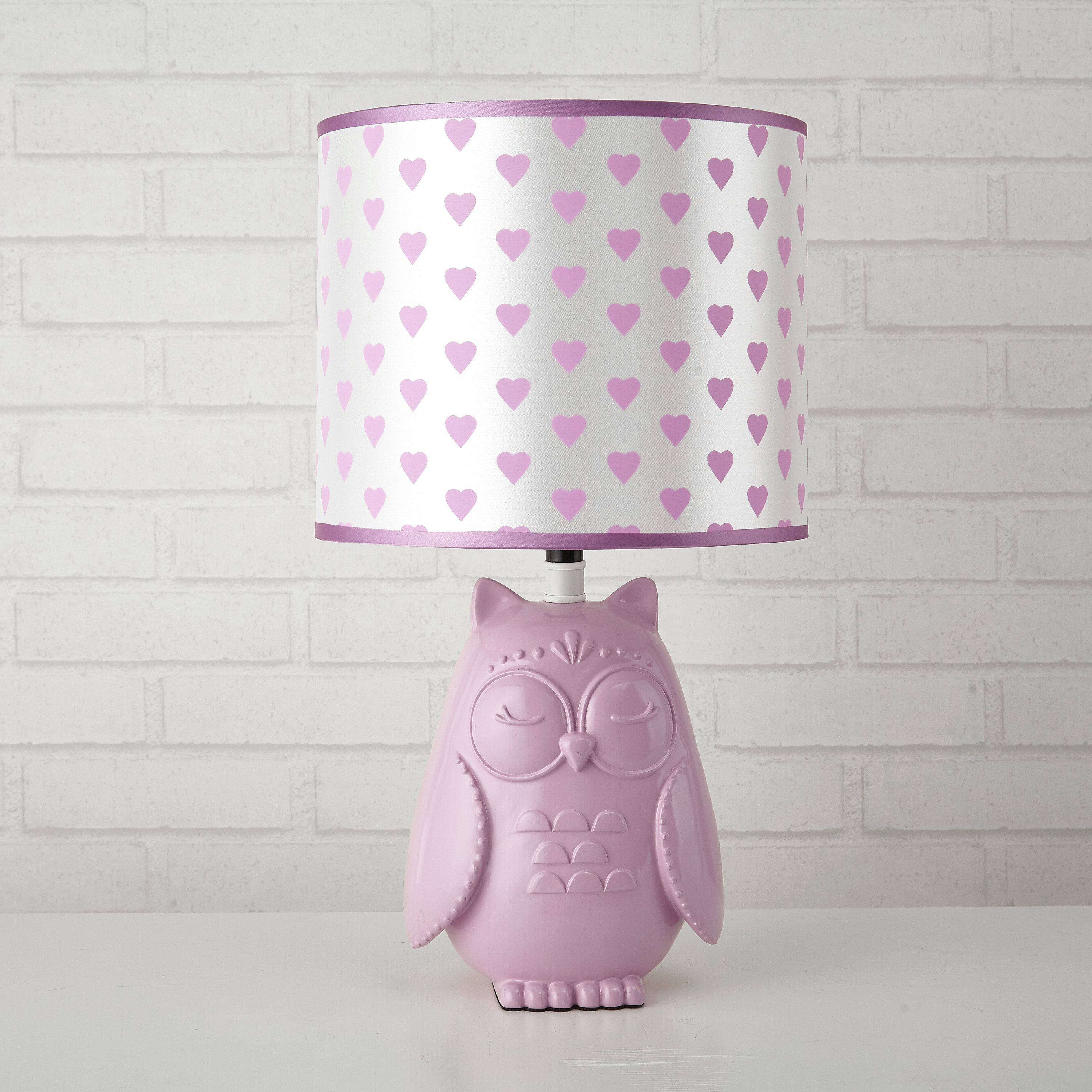 Mainstays Kids Pink Owl With Hearts Shade