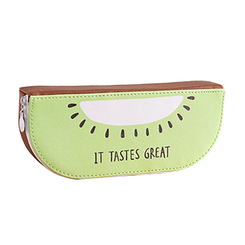 Fresh Cute Fruit Orange Watermelon Kiwi Pen Pencil Bag For Students Gifts