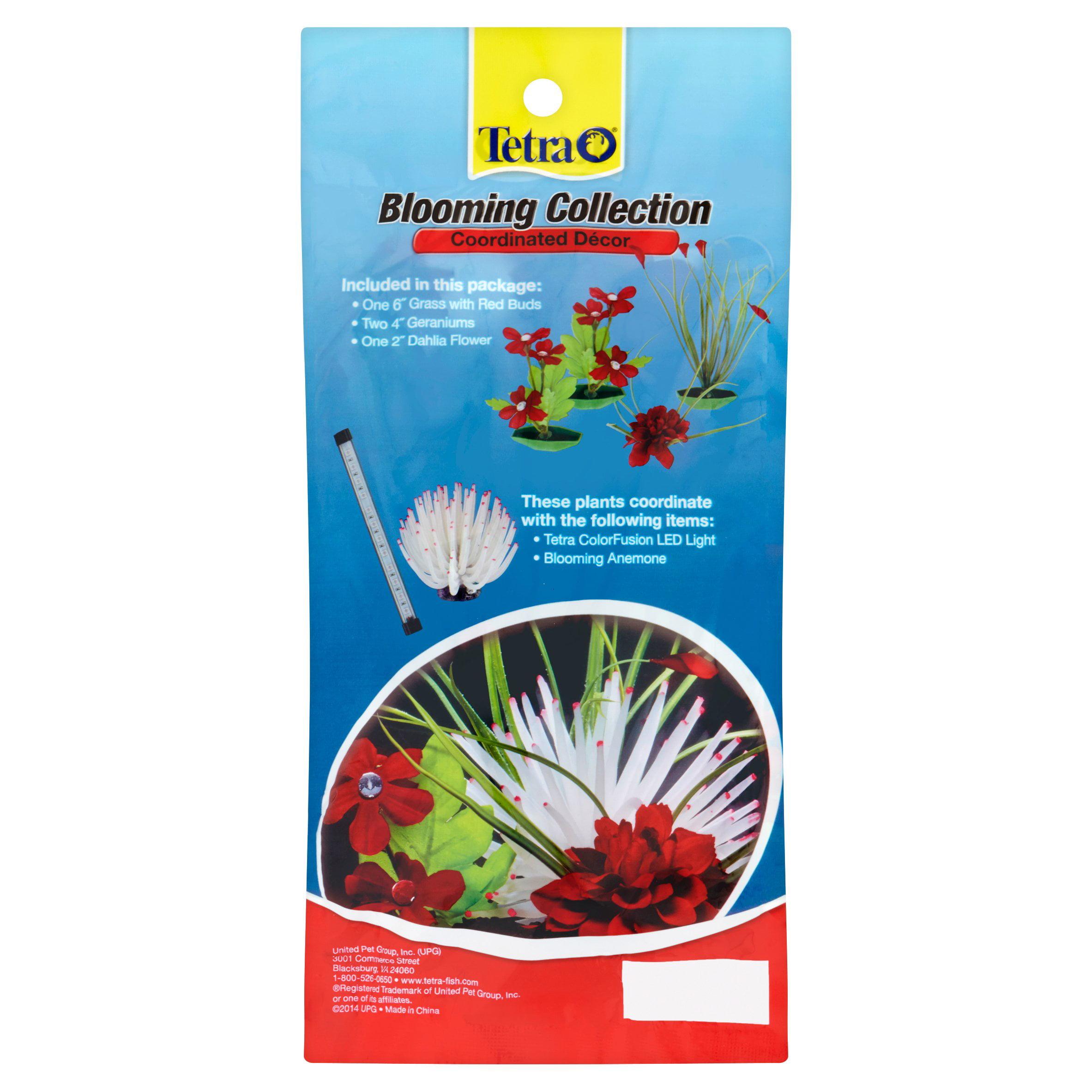 Tetra Blooming Collections Coordinated Décor Aquarium Plants, 4 ...