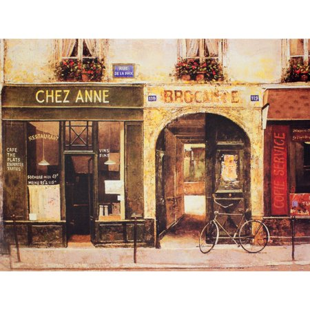 Oriental Furniture Parisian Cafe Wall Art