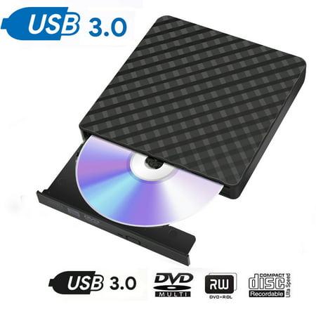 USB 3.0 External Blu-Ray Disc Player Combo DVD CD RW Burner Drive for Laptop 3D ()
