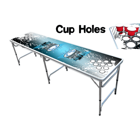 8 foot professional beer pong table w cup holes splash edition - Professional beer pong table ...