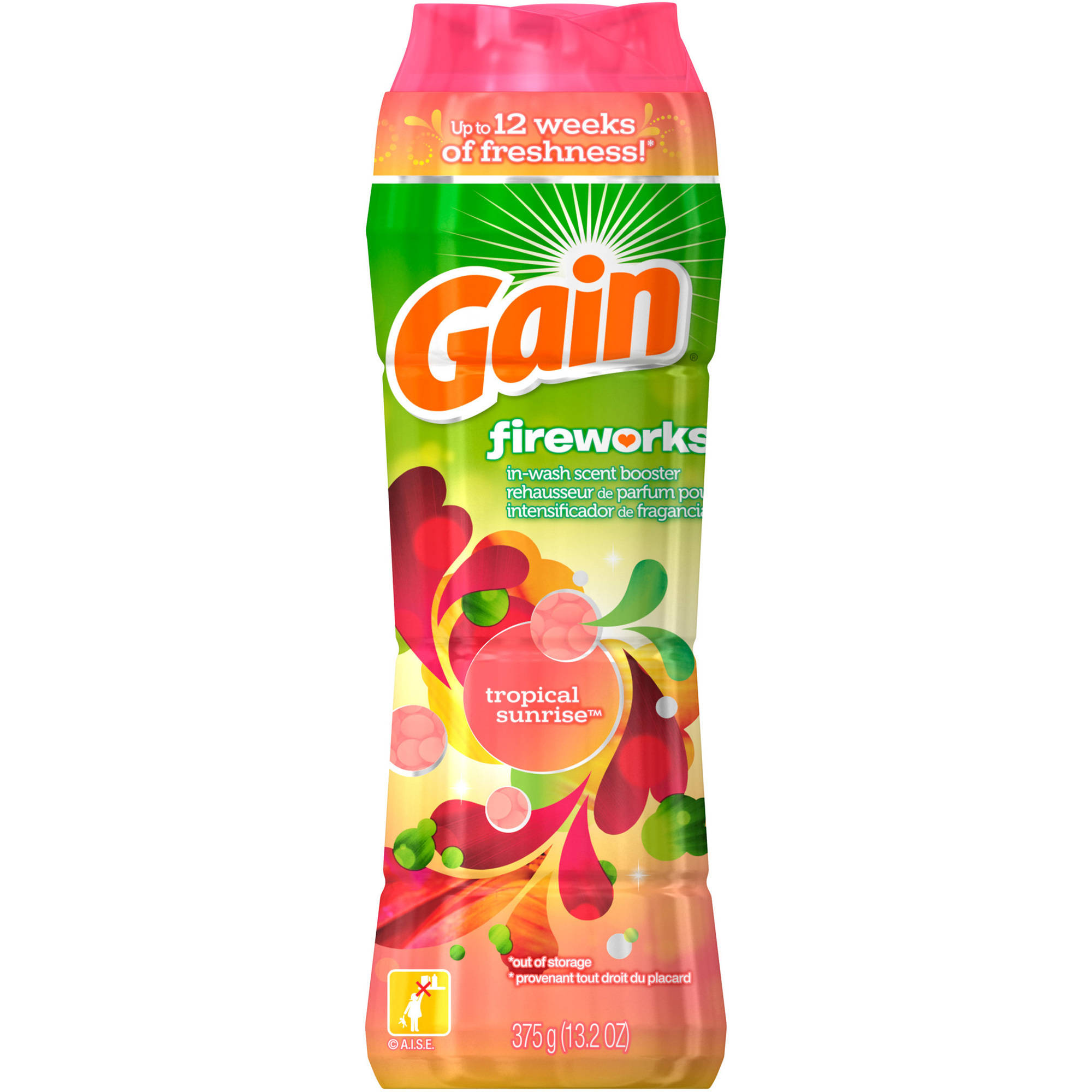 Gain Fireworks Tropical Sunrise In-Wash Scent Booster Beads, 13.2 oz