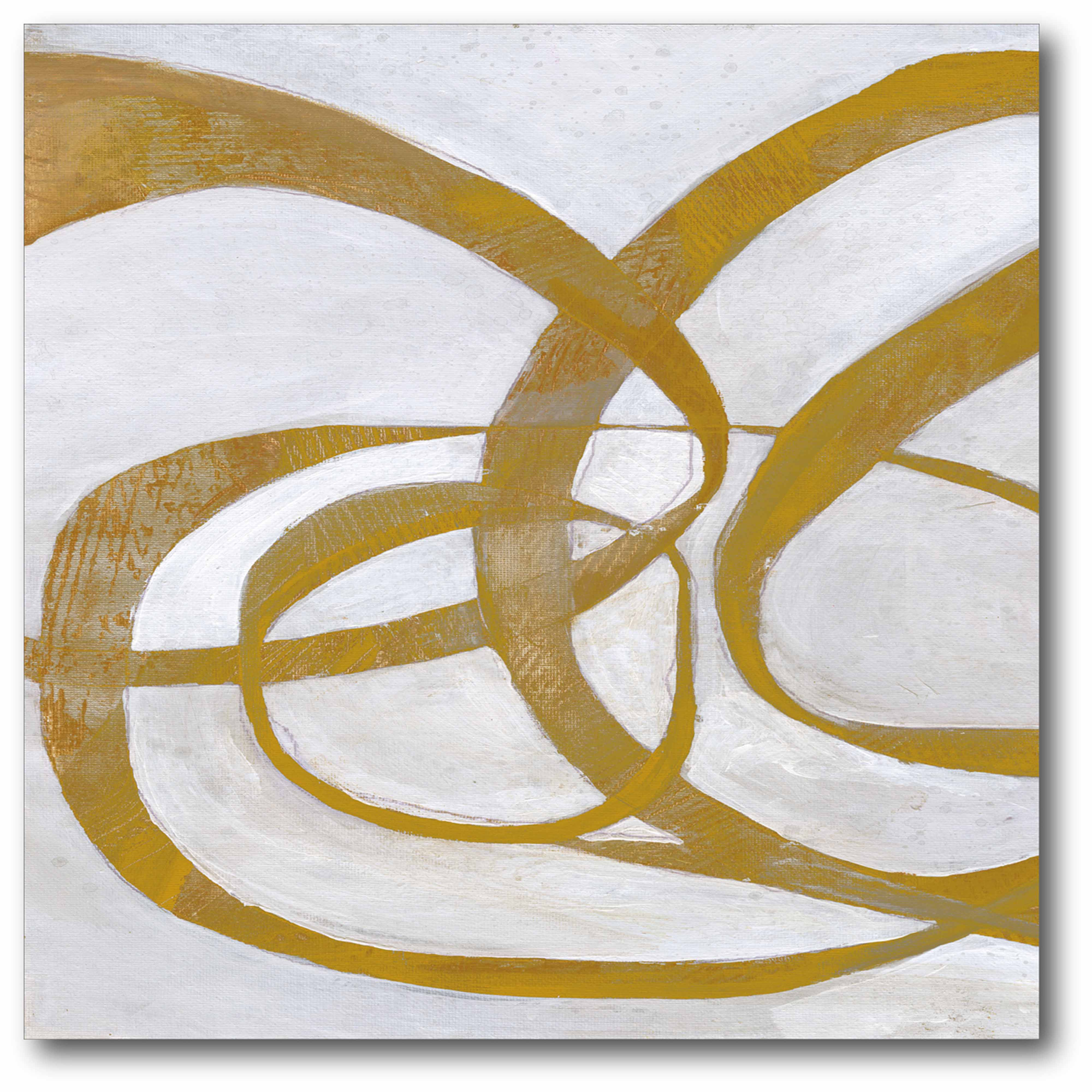 Abstract Gold Gallery-Wrapped Canvas Wall Art, 16x16