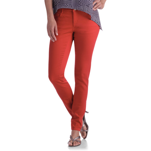 Miss Tina Women's 5 Pocket Colored Skinny Jeans