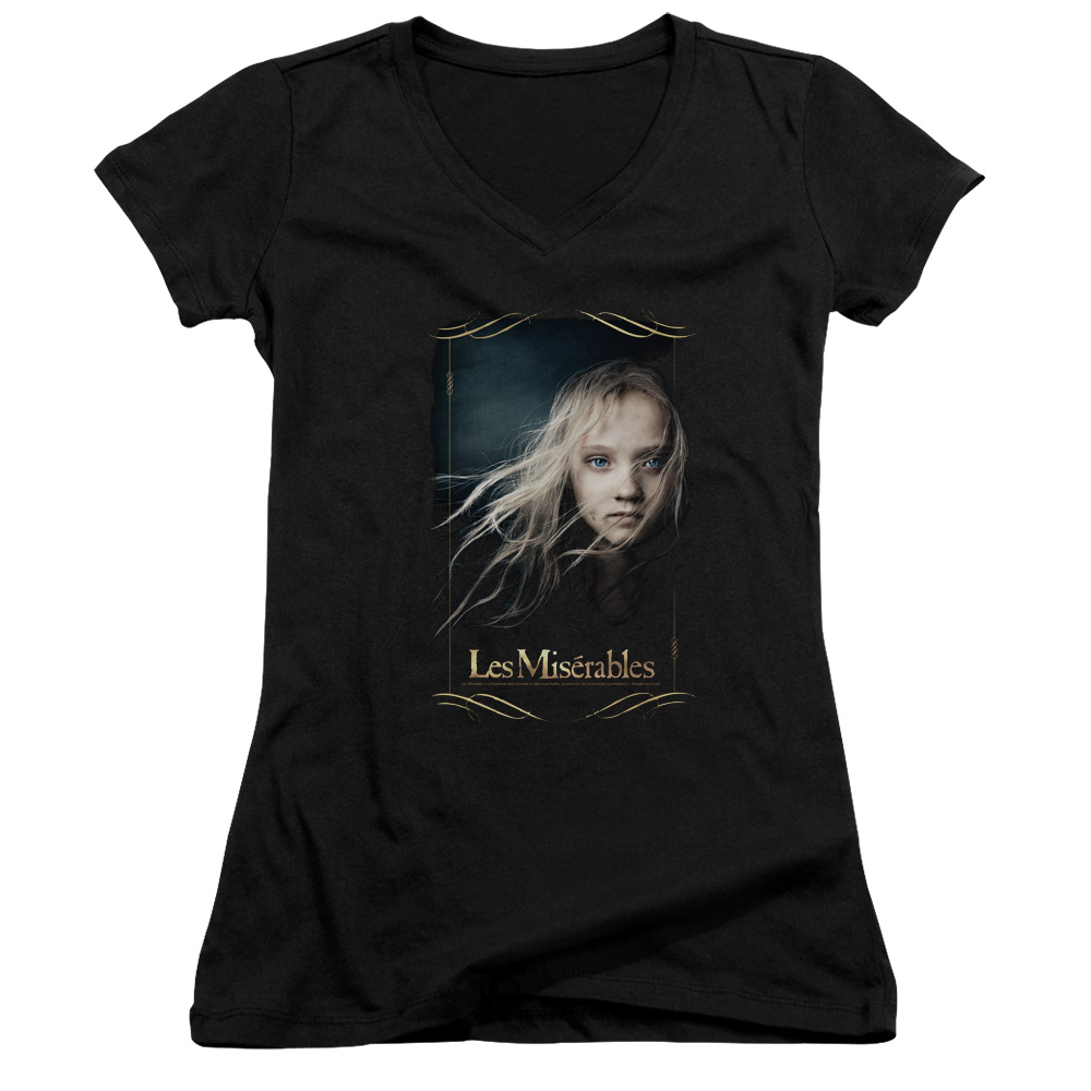 Les Miserables Cosette Juniors V-Neck Shirt