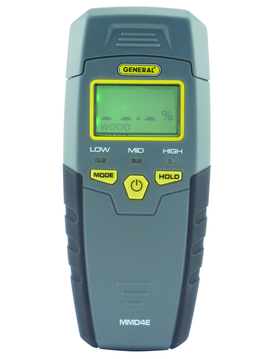 General Tools MMD4E Moisture Meter, Pin Type, Digital LCD by General Tools