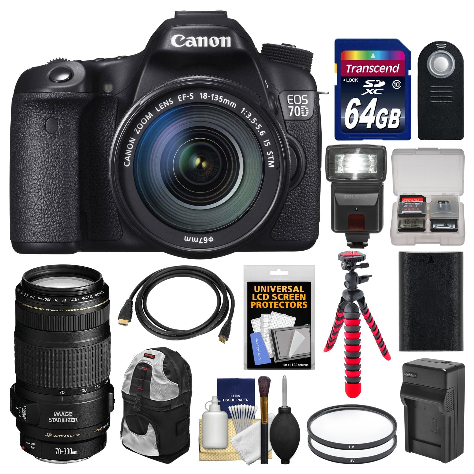 Canon Eos 70d Digital Slr Camera Amp Ef S 18 135mm Is Stm
