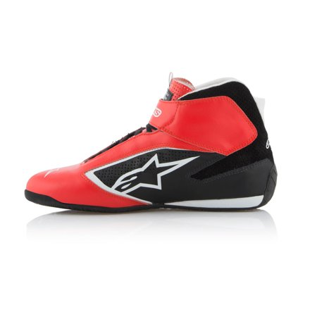- Alpinestars 2710119-312-6 Tech 1-T Racing Shoe, Red/Bk/White, 6