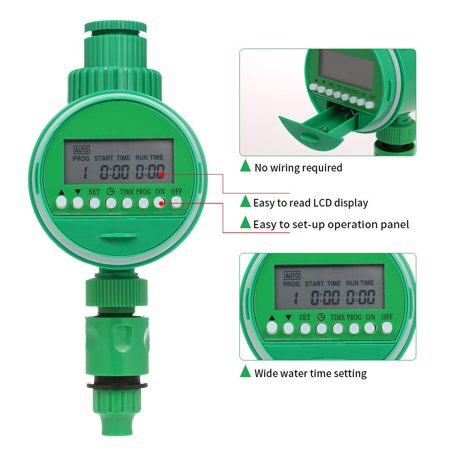 "Outlet Programmable Hose Faucet Timer 3/4"" 1/2"" Tap Automatic Wirless Water Gateway Garden Irrigation Watering Timer Battery Operated - image 2 de 6"