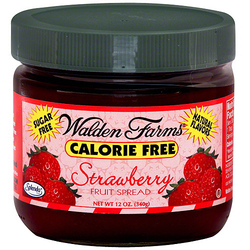 Walden Farms Calorie Free Strawberry Fruit Spread, 12 oz, (Pack of 6)