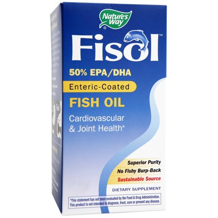 Natures Way Fisol 50% EPA/DHA Enteric-Coated Fish Oil 180 (Fisol Enteric Coated Fish Oil)