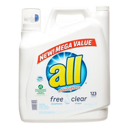 All With Stainlifters Free Clear Liquid Laundry Detergent  184 5 Fl Oz