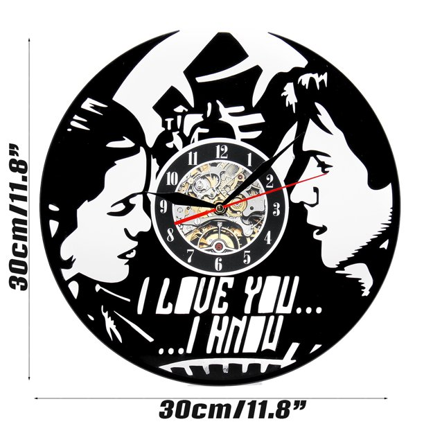 Modern Comics Movie Characters Vinyl Record Design Round Wall Clock- Decorate your home Living Room Best gift for him or her
