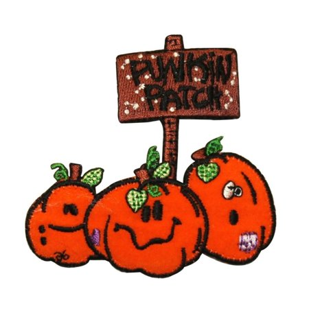 ID 0830 Cartoon Pumpkin Patch Halloween Farm Harvest Embroidered IronOn Applique (Halloween Pumpkin Patch Phoenix)