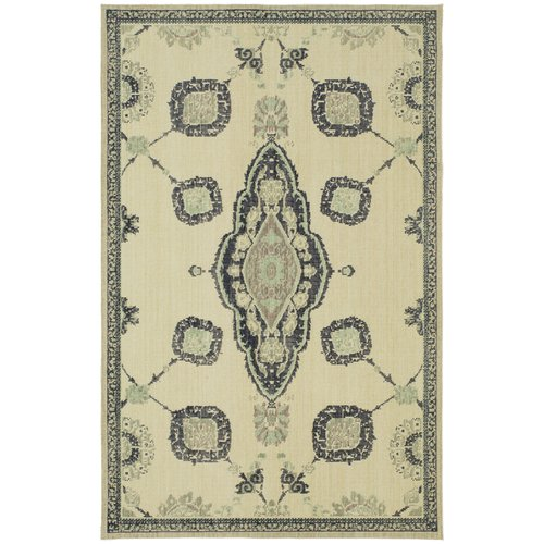 Karastan Vintage Tapis French Village Indigo by Patina Vie Hand-Knotted Gray/Blue Area Rug