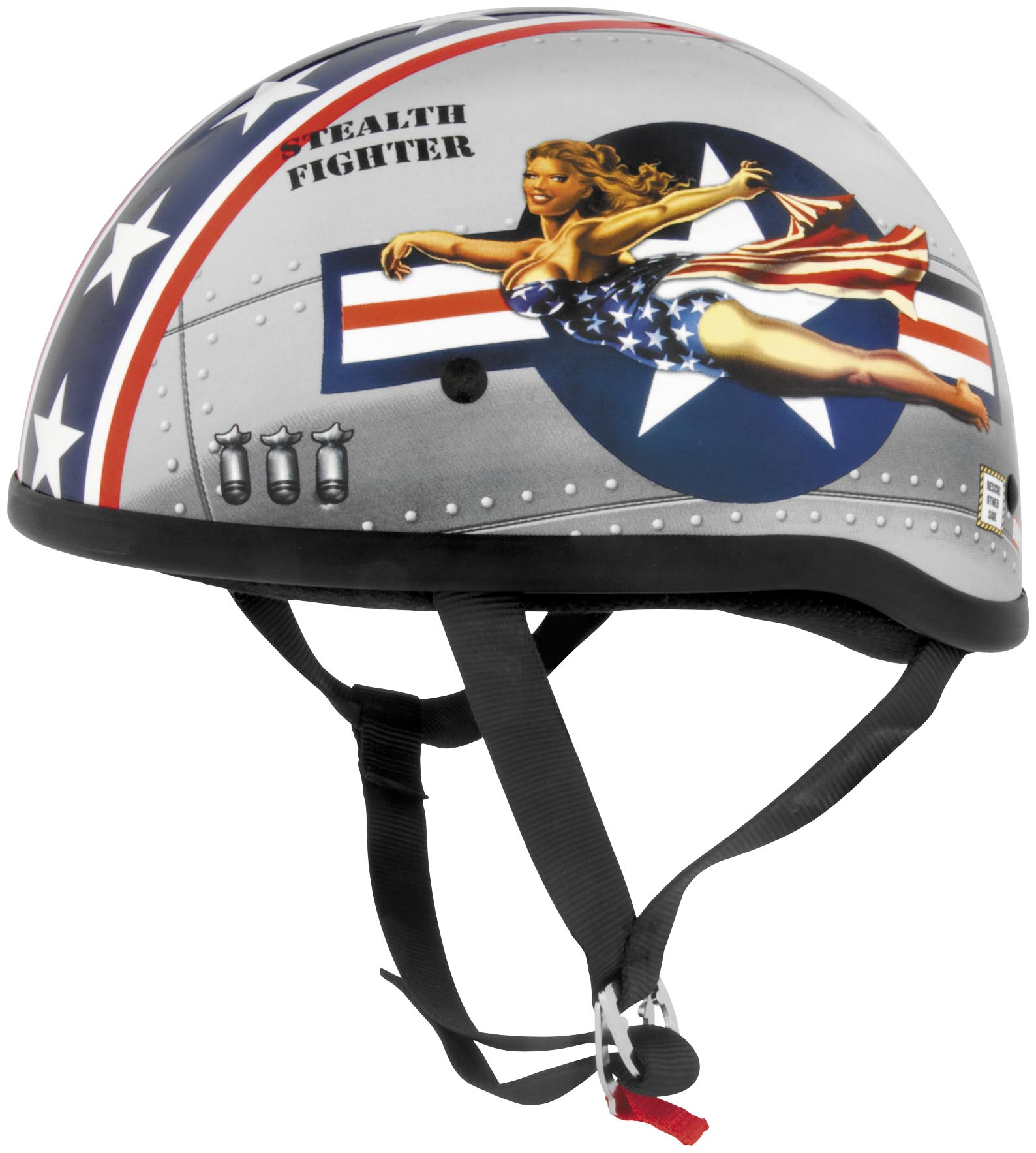 Skid Lid Helmets 646951 Original Bomber Pin Up Helmet