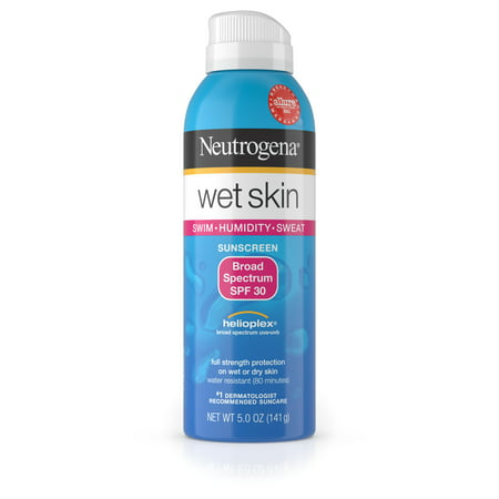 Body Spray Spf 30 Sunblock (Neutrogena Wet Skin Sunscreen Spray Broad Spectrum SPF 30, 5 oz)