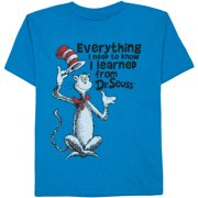 Dr. Seuss Everything I learned Boys' Graphic Crew Tee by