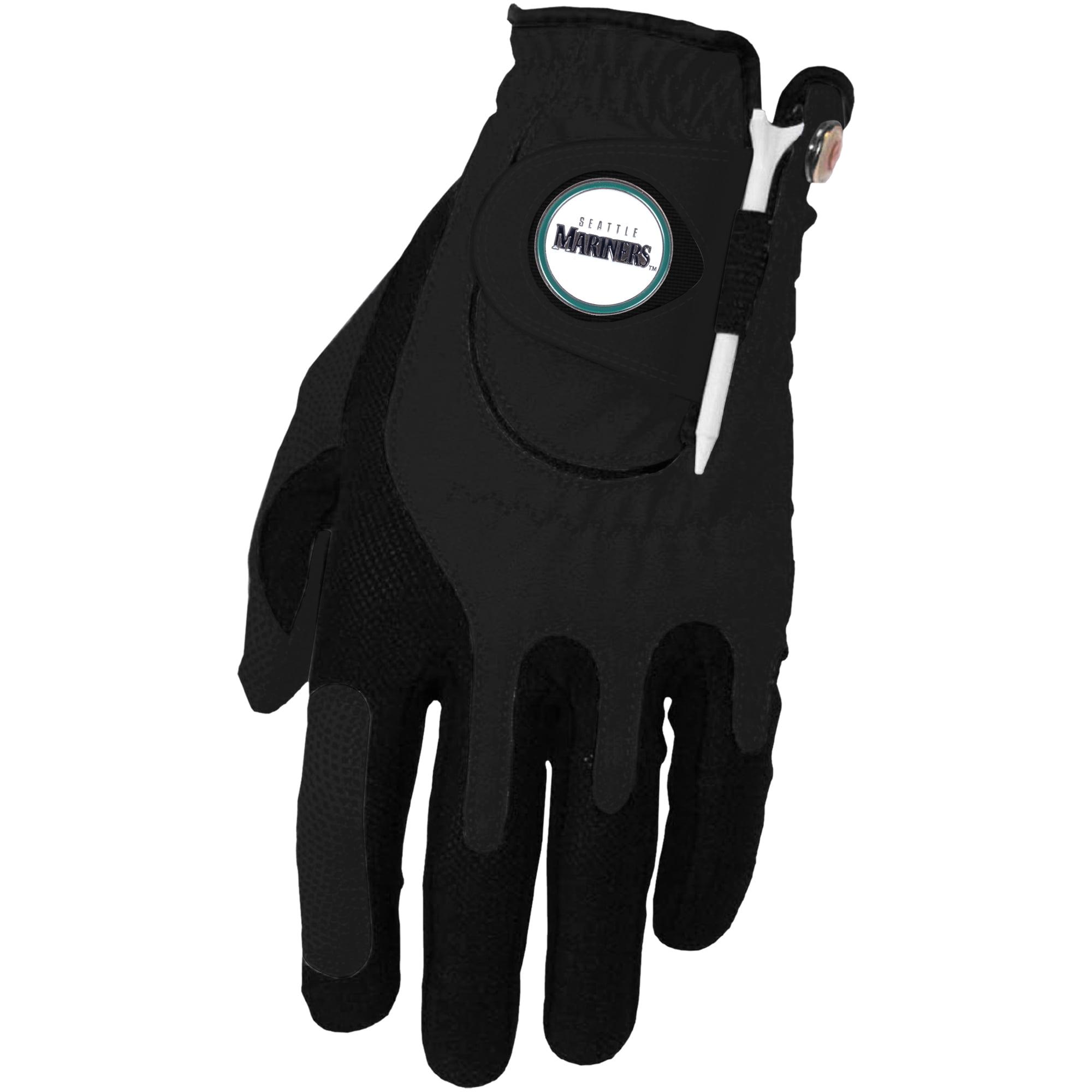Seattle Mariners Left Hand Golf Glove & Ball Marker Set - Black - OSFM