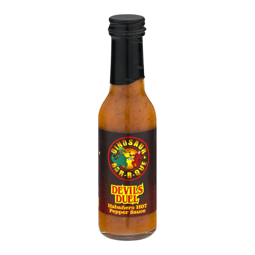 Dinosaur Bar-B-Que Devil's Duel Habanero Hot Pepper Sauce, 5.0 FL OZ by Dinosaur Bar-B-Que