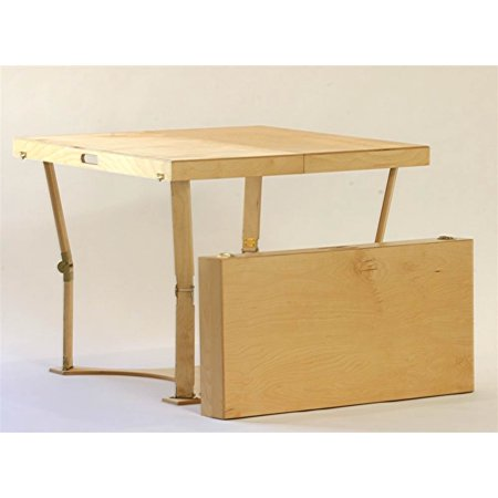 Wooden Folding Dining and Puzzle Table in Natural Birch Finish Natural Birch Finish