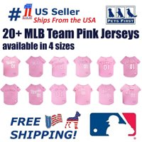 Pets First MLB Houston Astros Baseball Pink Jersey - Licensed MLB Jersey - Medium