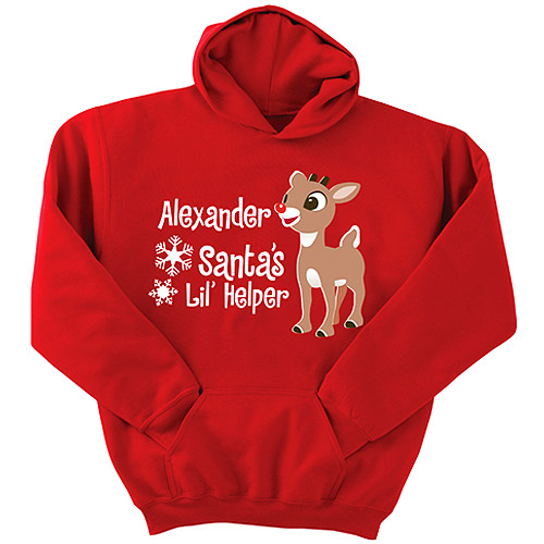 Personalized Rudolph Character Hoodie