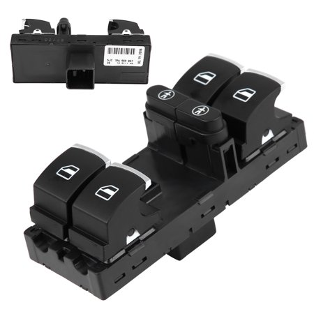 Qiilu Front Left Power Master Window Switch for VW Sharan