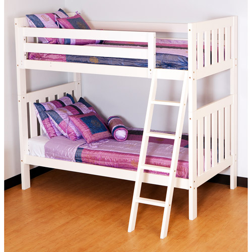 Canwood - Alpine II Twin over Twin Bunk Bed with Angled Ladder, White